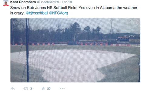 Perfect Softball Weather… I Think Not