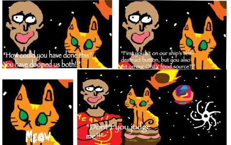 Sandwich Cat in Space