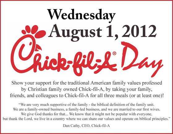 Chick-fil-A is more associated with controversy than with chicken these days.