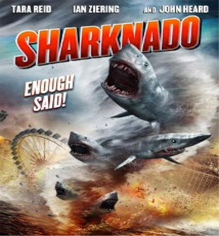 This is the poster for Sharknado