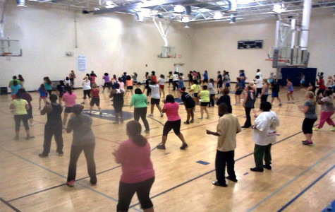 Rod Smith's record breaking class at the Hogan Family YMCA with 124 people!