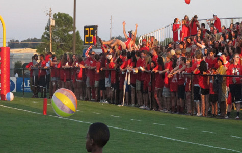 Student Section Fired Up During James Clemens Game