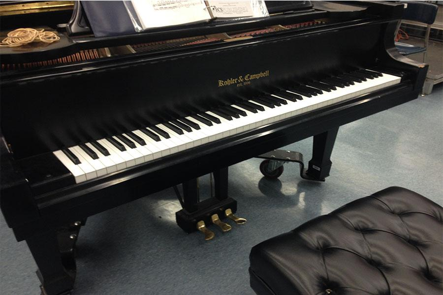 a piano from the choir room of Bob Jones High School