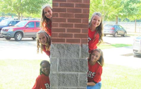 (top left to bottom right) Abbey Harris, Shelby Hogan, Brittany Nunez, Emma Pointer, and Nadia Stewart