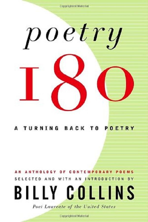 The book cover for the Poetry 180 published anthology.