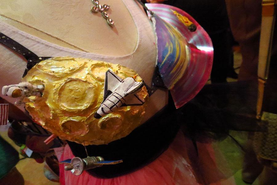 Space-themed bra.