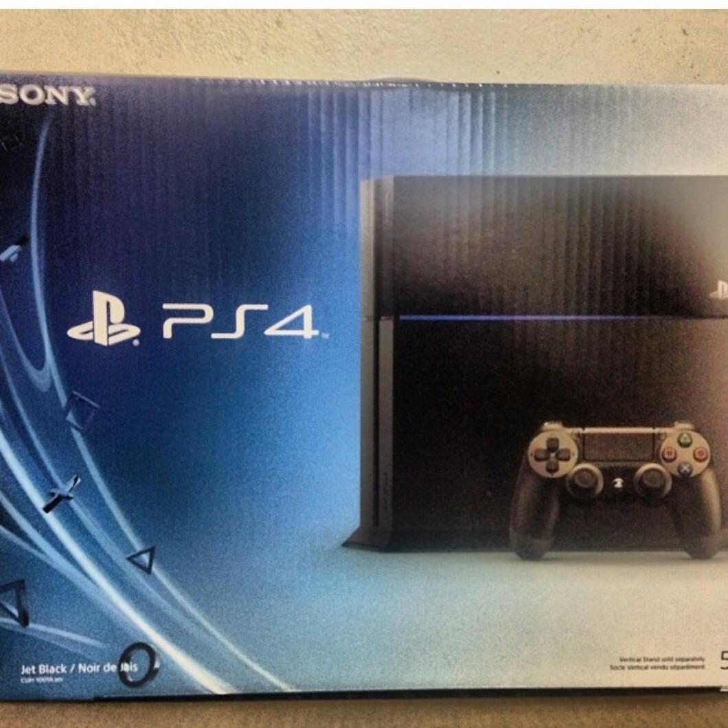The box of a brand new PS4