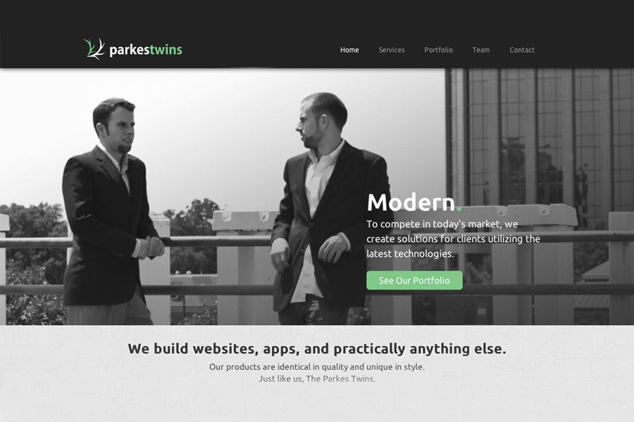 Visit www.parkestwins.com to check out James and Jarrod Parkes' company.