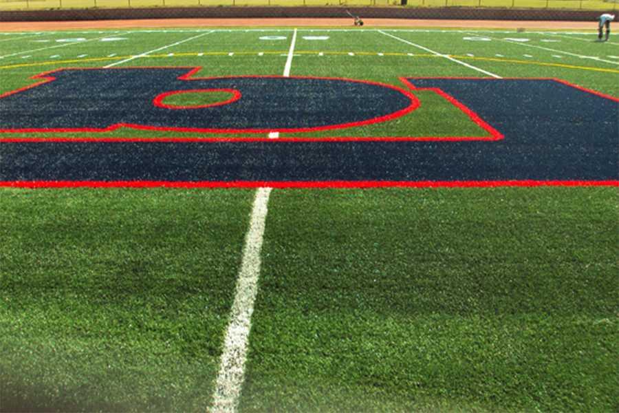This is the Bob Jones turf field where the Bob Jones team conditions.
