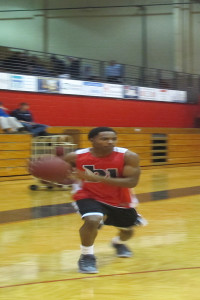 Guard Ralph Templeton during afternoon practice.