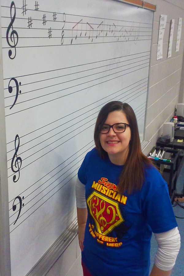Shelby Morgan won a $1000 scholarship at the Alabama Music Educators Association Conference