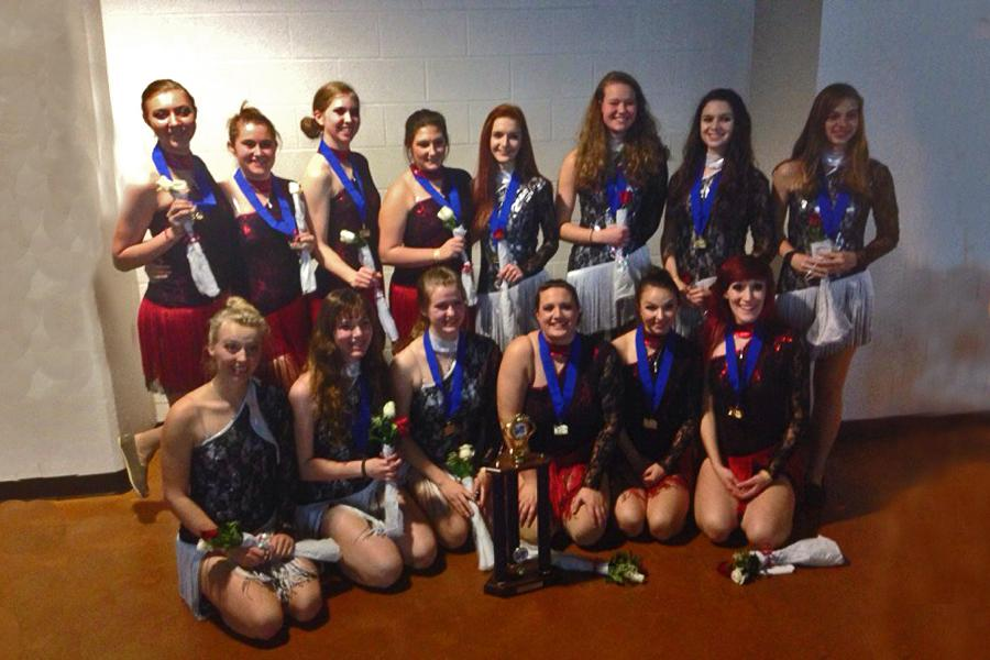 The SCGC champions for their routine