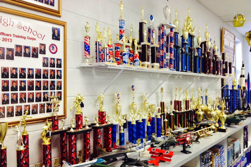 The ROTC/JROTC teams have won over 90 trophies in the last six years, ranking in first or second place.