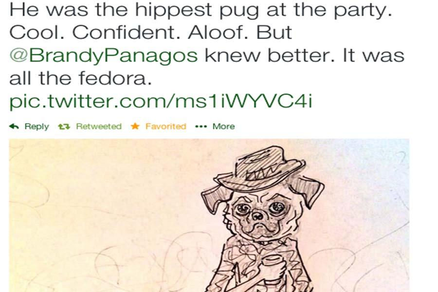 The pug that Dugaldo Estrada drew for Panagos' second block class.
