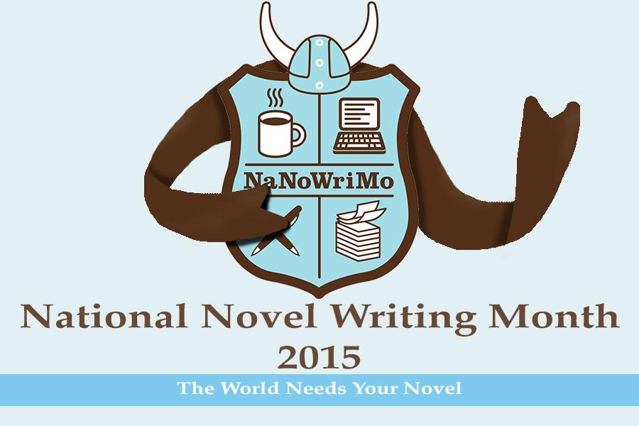 Logo used courtesy of National Novel Writing Month, a nonprofit organization dedicated to challenging the whole world to write a novel. 100% of donations to NaNoWriMo go toward operating costs and charities that do things like build libraries in undeveloped countries.
