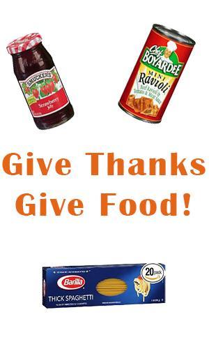 Giving Thanks Food Drive