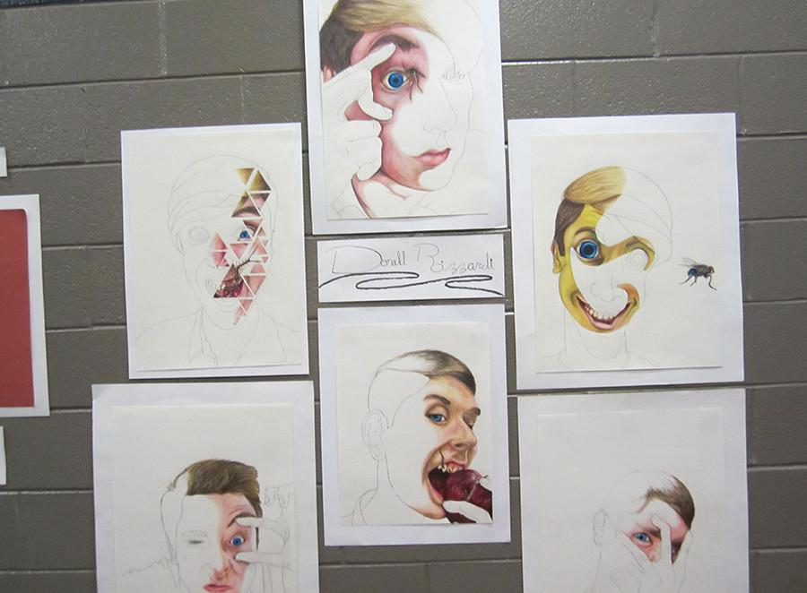 The art of senior art student Donald Rizzardi.