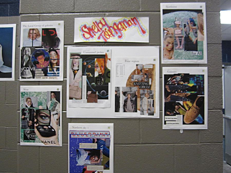 The art of senior art student Shelby Tangeman.