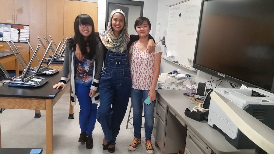 MultiCultural Club's Founders Misa Ito, Aman Gadallah, and Sara Lin.