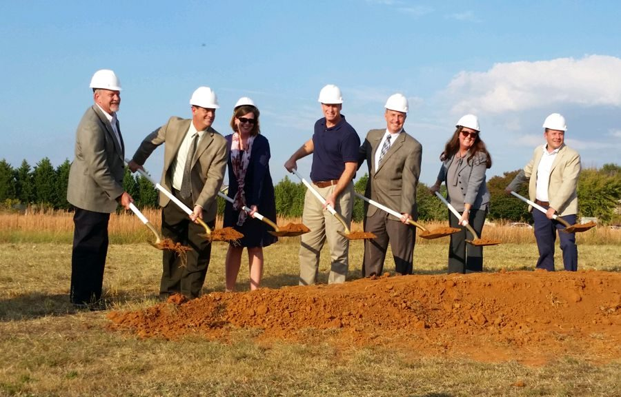 Groundbreaking at New Library