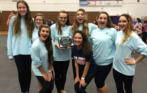 Winter Guard Balances on First Place