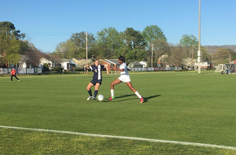 Girls' Soccer Kicking It