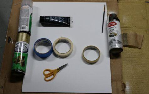 DIY Spray Paint Tape Art