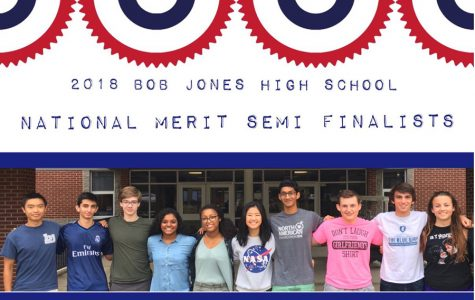 10 Bob Jones Students Selected as National Merit Semi-Finalists