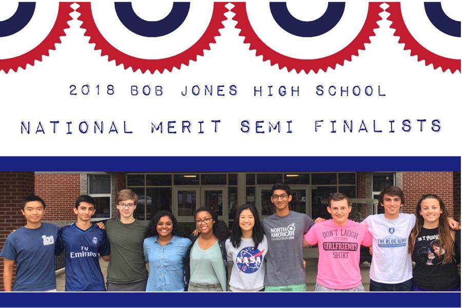 10 Bob Jones Students Selected as National Merit Semi-Finalists