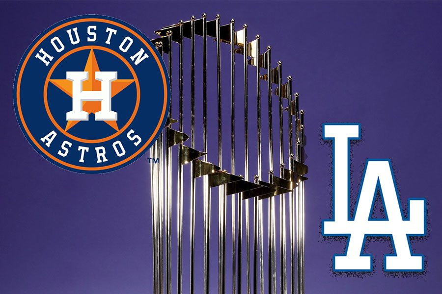 The+Houston+Astros+play+the+Los+Angeles+Dodgers+to+compete+for+the+Commissioner%27s+Trophy.