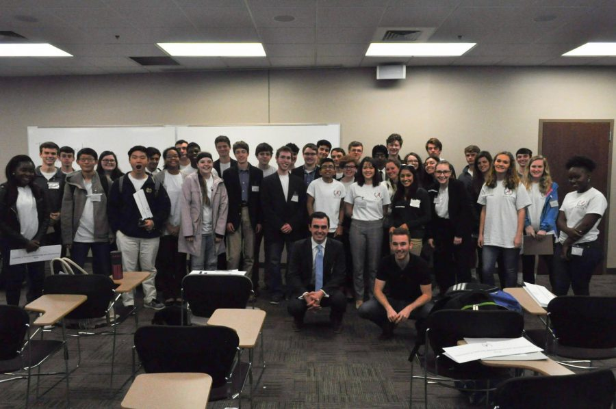 Bob Jones students, Payton Gloschat and Zach Johnson, participated in the Disarmament and International Security Committee at ALMUN.