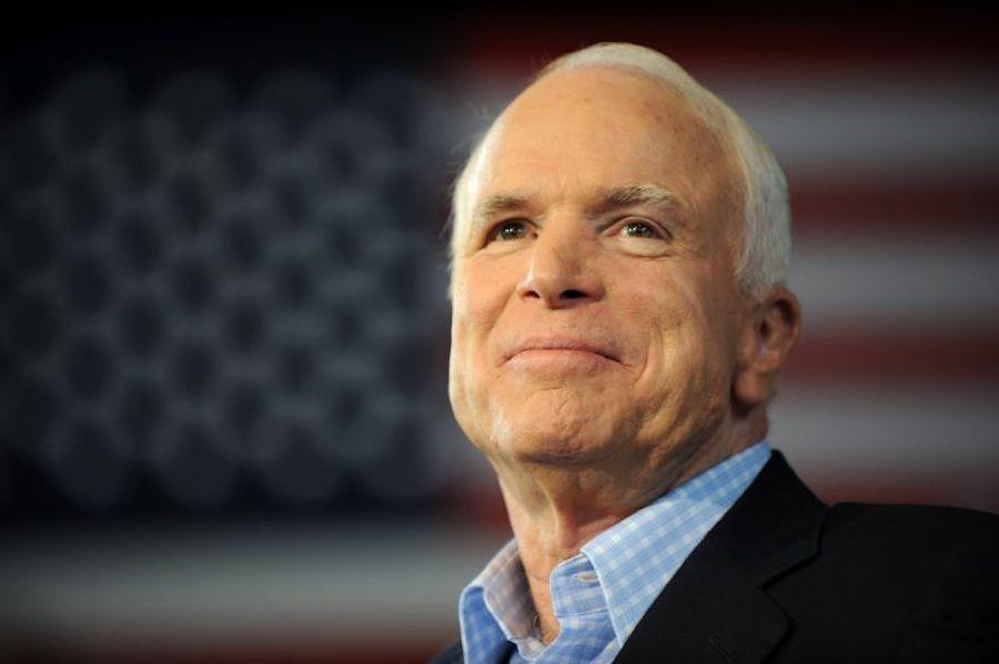 Former Senator John McCain.