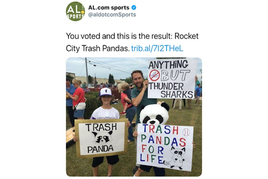 Here They Are: The Rocket City Trash Pandas