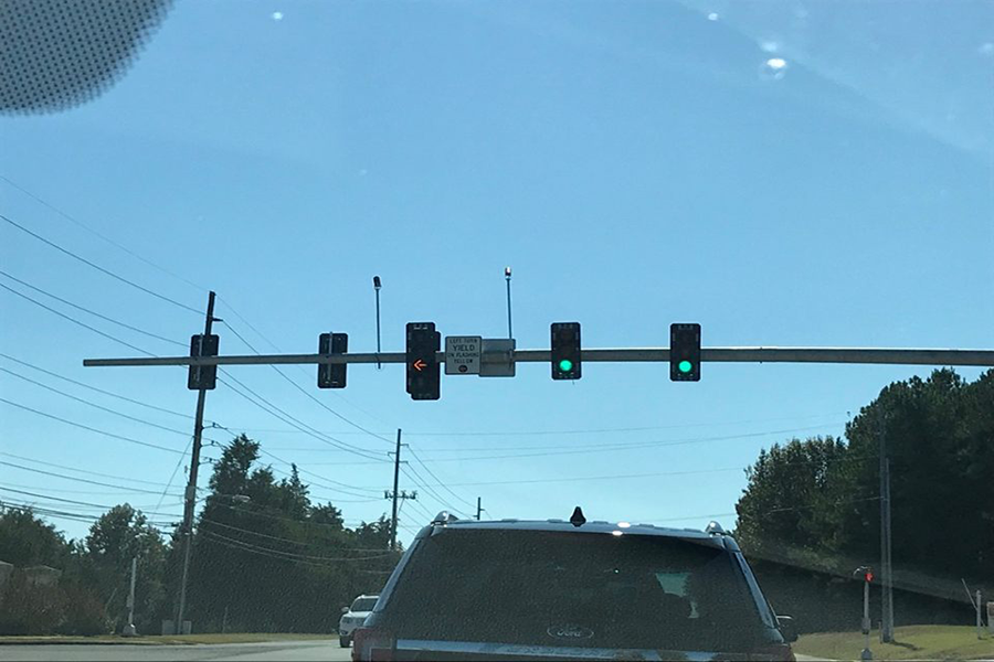 Madison+City+Government+Adds+New+Traffic+Lights+on+Hughes