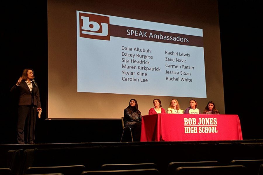 SPEAK Panel on the day of the teachers' back to school professional development.