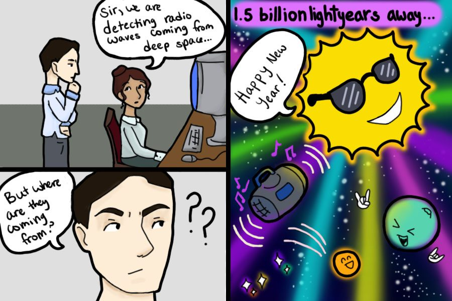 Deep Space Radio Waves Comic