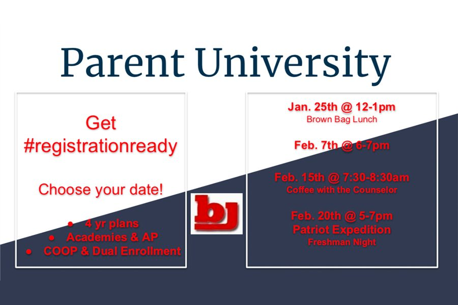 Upcoming Parent University Counselor Meetings