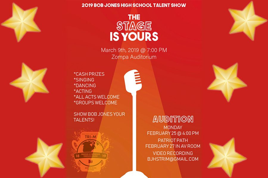 Bob Jones Talent Show This Saturday