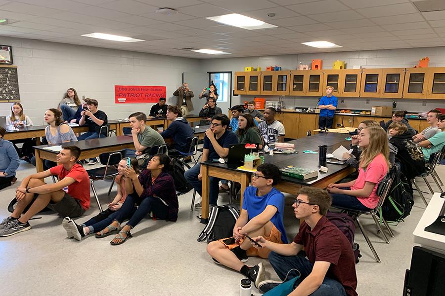 Internship Students Watch Custom Payload Launch on Blue Origin Rocket
