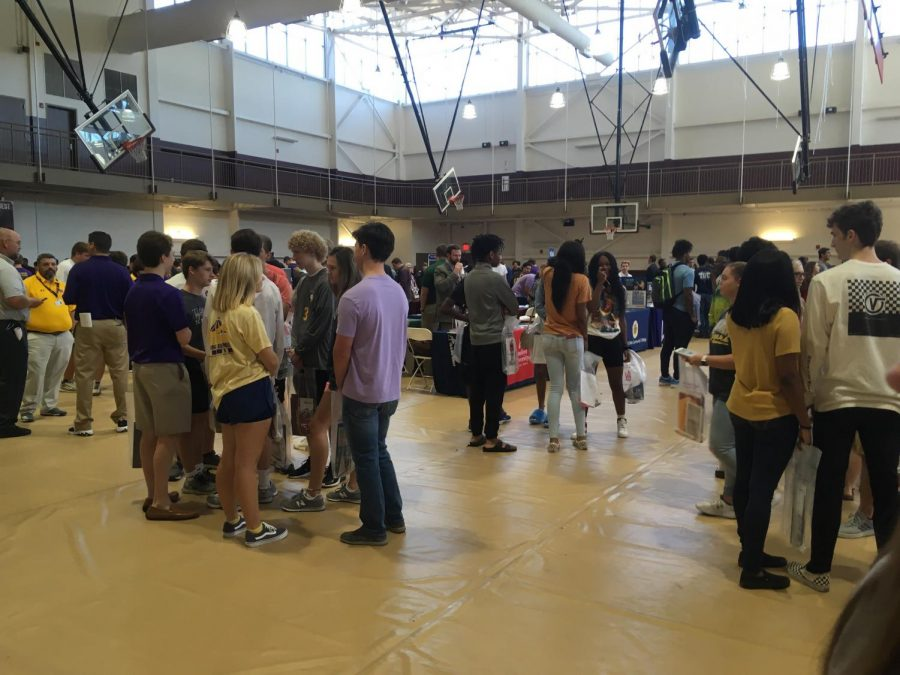 Several high schools attended the fair.