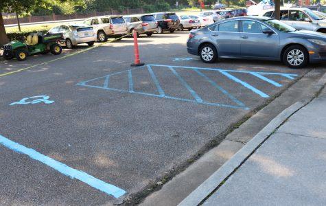 BJHS Parking Lot Repainted