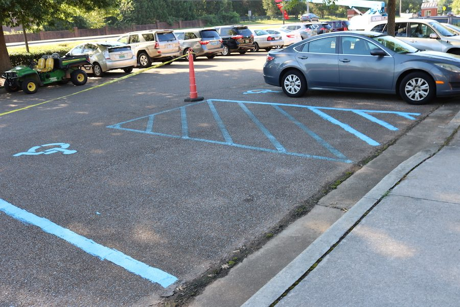 BJHS Parking Lot Repainted