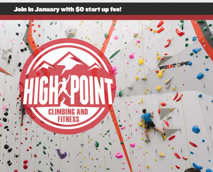 high point climbing gym website