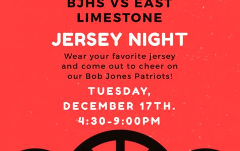 Bob Jones vs. East Limestone Jersey Night