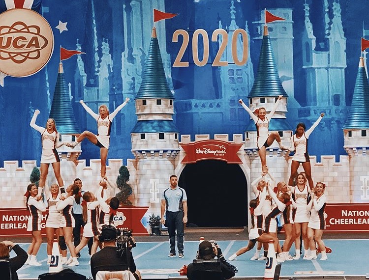 Bob Jones Competition Cheer team competing at Nationals.