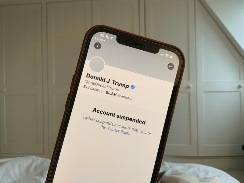Social+Media+Platforms+Ban+President+Trump