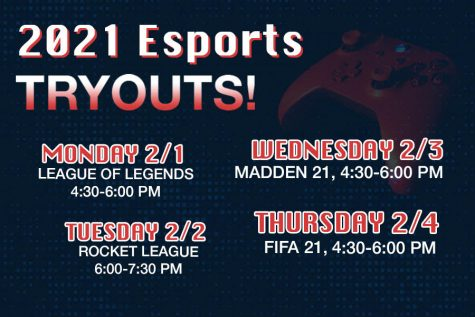 eSports Try Outs Coming Up