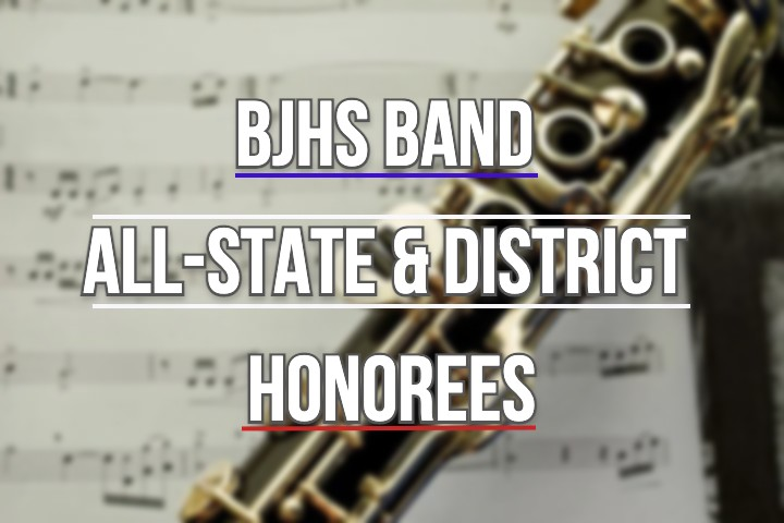 BJHS Band Students Chosen for All-State and District!