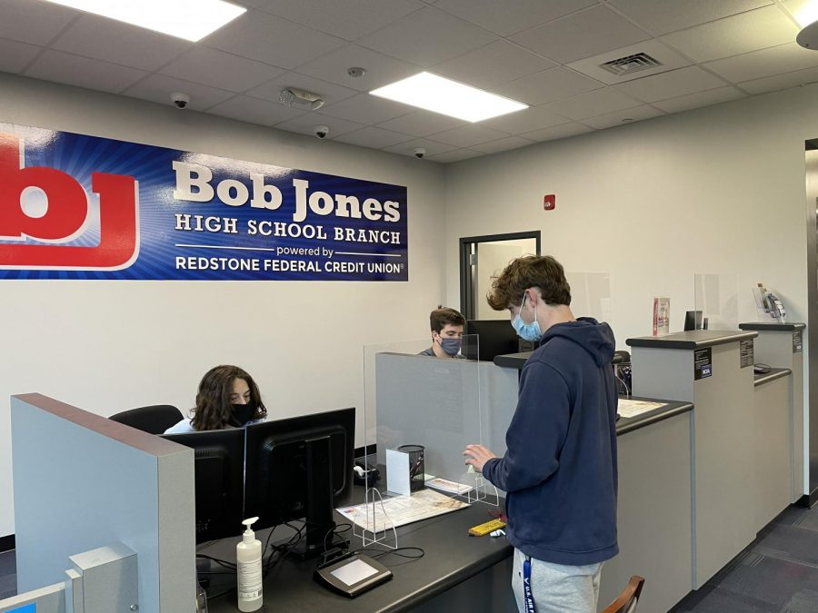 Working at the Redstone Federal Credit Union at Bob Jones